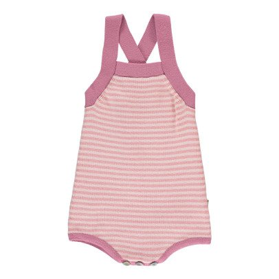 Nui Gladys Striped Organic Cotton Knit Romper-product