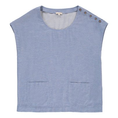 Tinsels Iyed Top with Pocket-listing