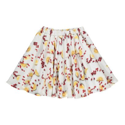 POPUPSHOP Organic Cotton Fruit Print Skirt-listing