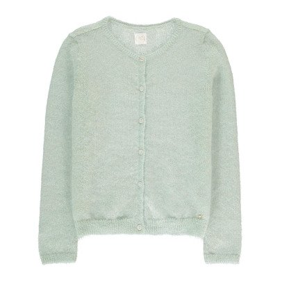 Des petits hauts Alberto Mohair, Silk and Lurex Kid Cardigan-product