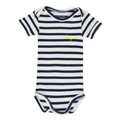 Maison Labiche Bonjour Embroidered Stripe Body Navy blue-listing