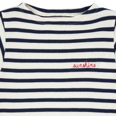 Maison Labiche T-Shirt Brodé Rayé Sunshine -listing