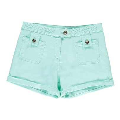 Chloé Drill Shorts with Braided Belt-listing