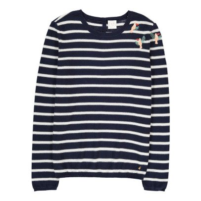Des petits hauts Blondie Embroidered Stripe Jumper-product