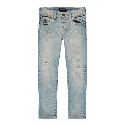 Scotch & Soda Strummer Washed Destroyed Slim Jeans-listing