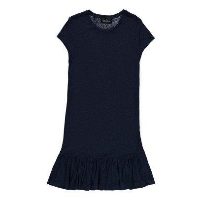 Little Remix T-Shirt mit Rüschen aus Kunstseide und  Leinen New Blos -listing