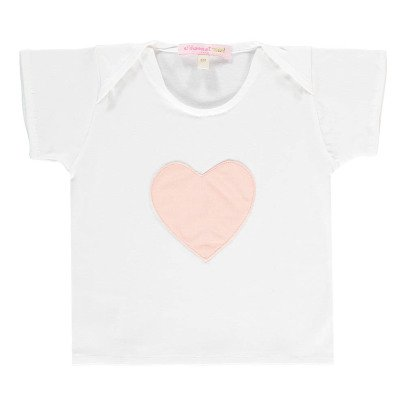 Moon et Miel T-shirt Patch Cœur-listing