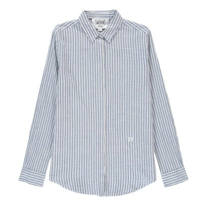 Swildens Qarry Striped Shirt with Button-Up Back-listing