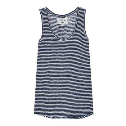 Swildens Qeige Striped Linen Vest Top-product