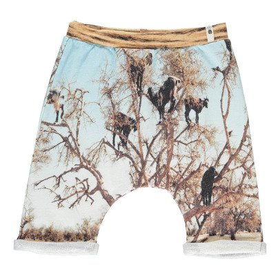 POPUPSHOP Organic Cotton Tree Print Shorts-listing
