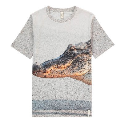 POPUPSHOP Camiseta Cocodrilo Algodón Biológico-listing
