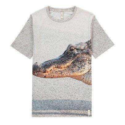 POPUPSHOP T-Shirt Crocodile Coton Bio-listing