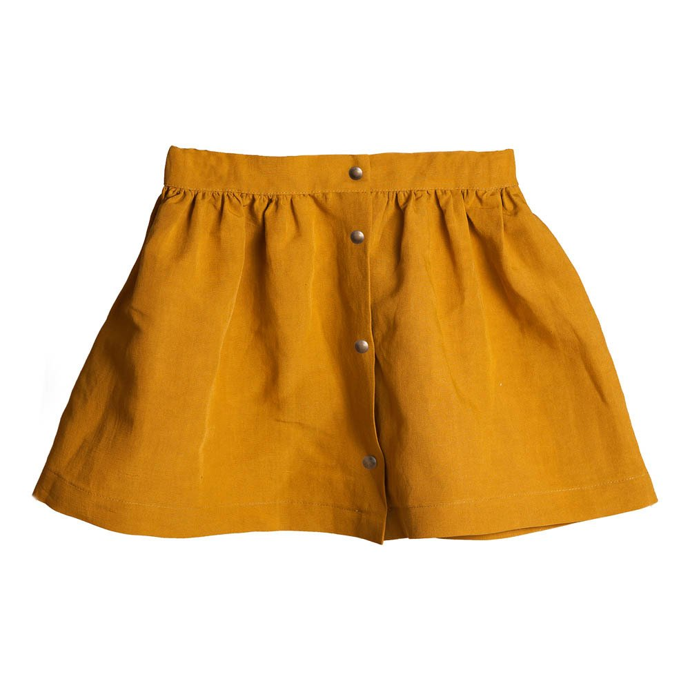 Desert Linen Buttoned Skirt-product