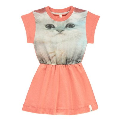 POPUPSHOP Organic Cotton Cat Skater Dress-listing