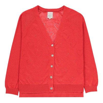 Little Karl Marc John Girly Heart 3/4 Length Sleeve Cardigan-listing