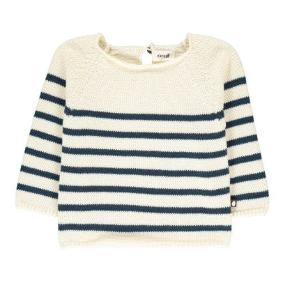 Oeuf NYC Ecru Striped Jumper-listing