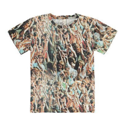 POPUPSHOP Organic Cotton Woodstock Loose T-Shirt-listing