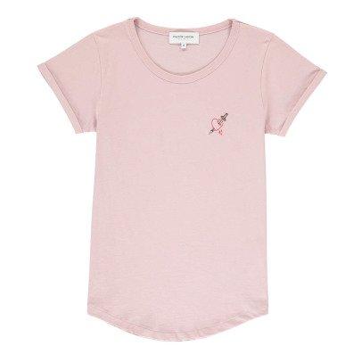 Maison Labiche T-Shirt mit Herz Stickerei -listing