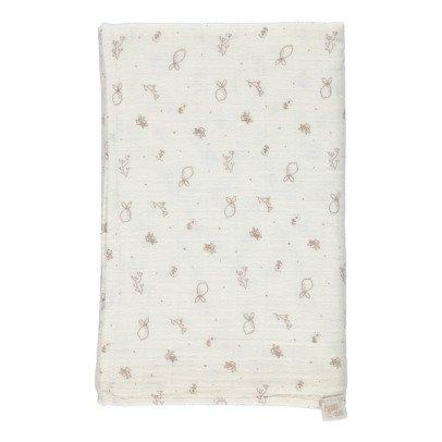 Poudre Organic Grand lange à motifs 120x120 cm-listing
