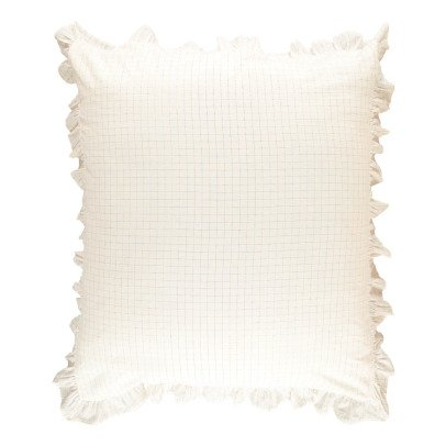 Louis Louise Gold Check Meadow Cushion Cover 90x105 cm-product
