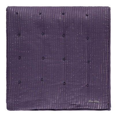 Louis Louise Lurex Silver Stripe Blanket-listing