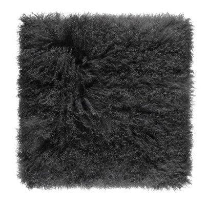 Maison de vacances Cojín básico en piel de cabra Carbón-listing