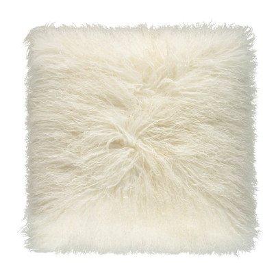 Maison de vacances Coussin basic en peau de chèvre du Tibet Blanc-listing