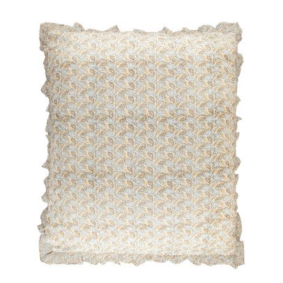 Louis Louise Blue Cognac Meadow Cushion Cover 90x105 cm-listing
