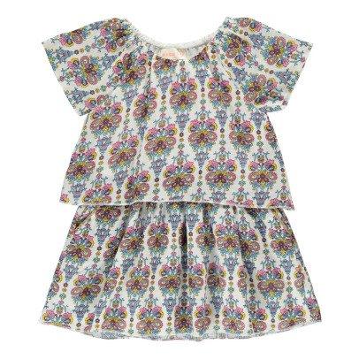 Simple Kids Kleid 2 in 1 Blumenmuster Spain -listing
