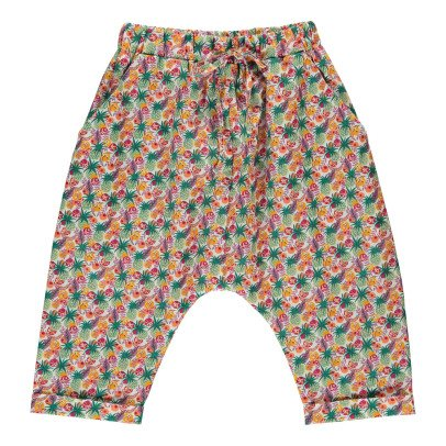 Poppy Rose Coco Tropical Liberty Harem Trousers-listing