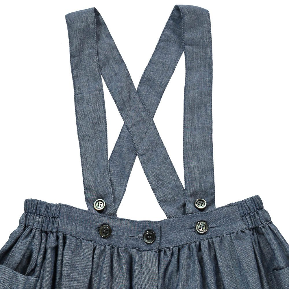 Ada Chambray Dress with Braces-product