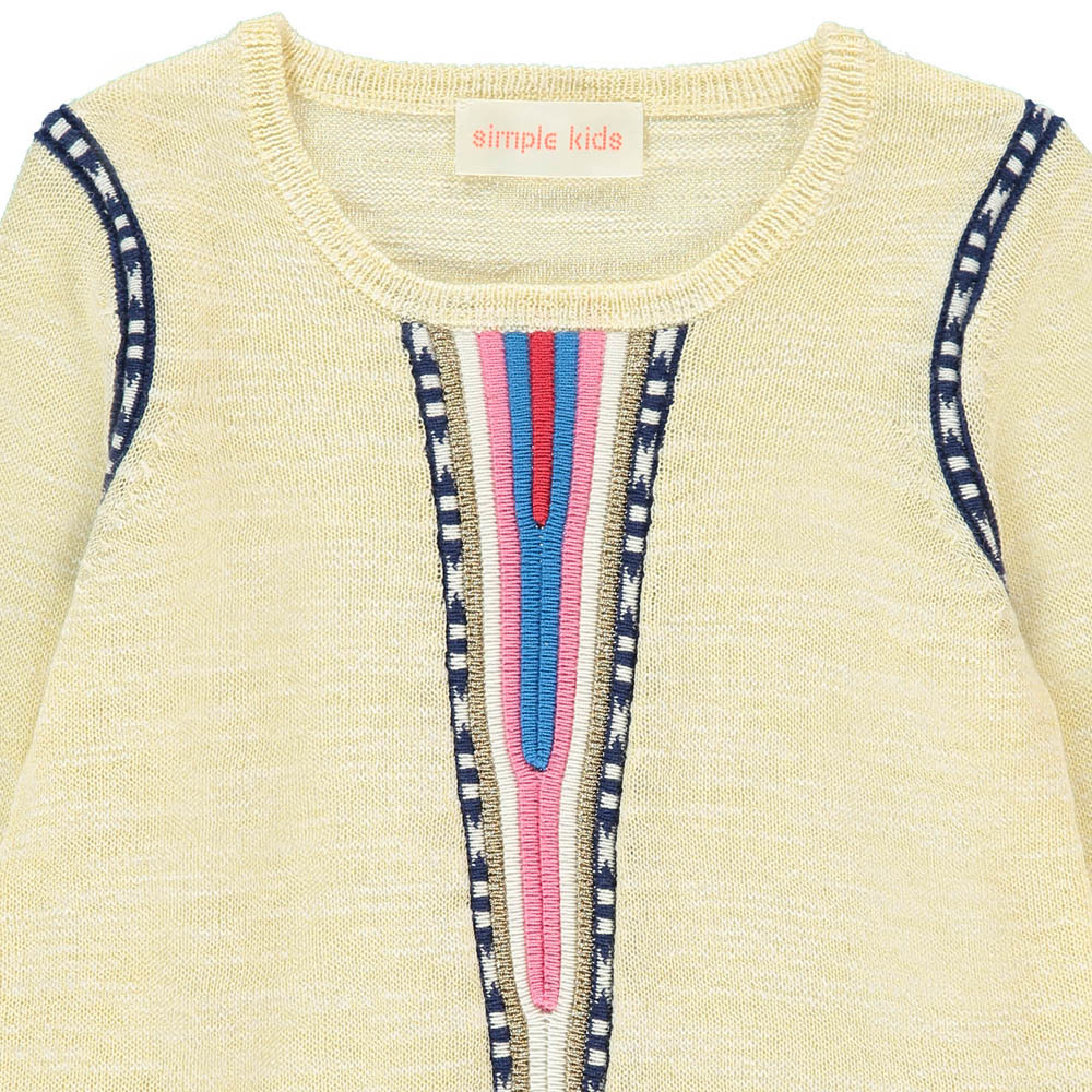 Simple Kids Guinea Embroidered Jumper-product