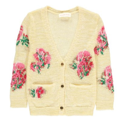 Simple Kids Cardigan Ricami Fiori-listing