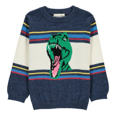 Simple Kids Gestreifter Pullover Dino -listing