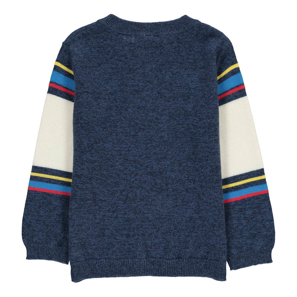 Simple Kids Dino Striped Jumper-product