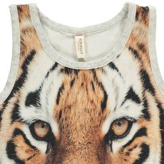 POPUPSHOP Organic Cotton Tiger Vest Top-listing