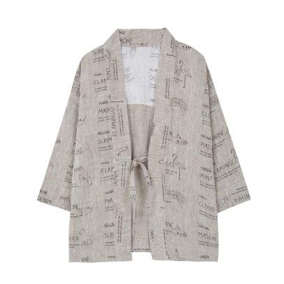 Yellowpelota Colour Linen Kimono Jacket-listing