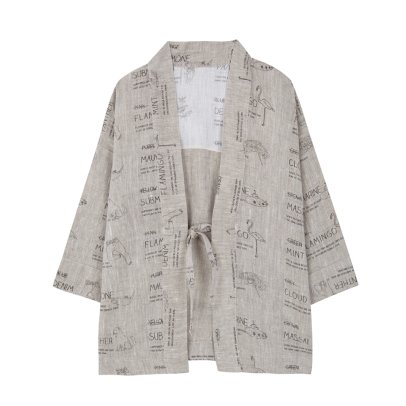 Yellowpelota Veste Kimono Lin Couleurs-listing