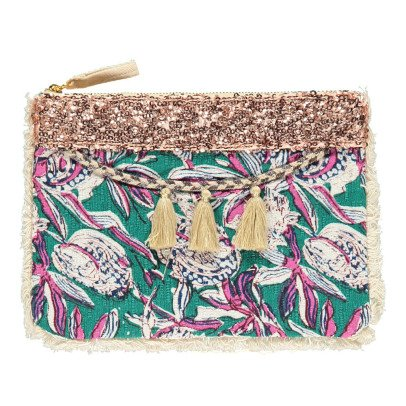 Louise Misha Uluwatu Floral Linen and Cotton Pouch - Women's Collection-listing