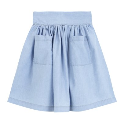 Yellowpelota Chambray Maxi Skirt-listing