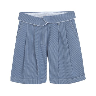 Yellowpelota Short Pinzas Chambray Rayas Gentlewoman-listing