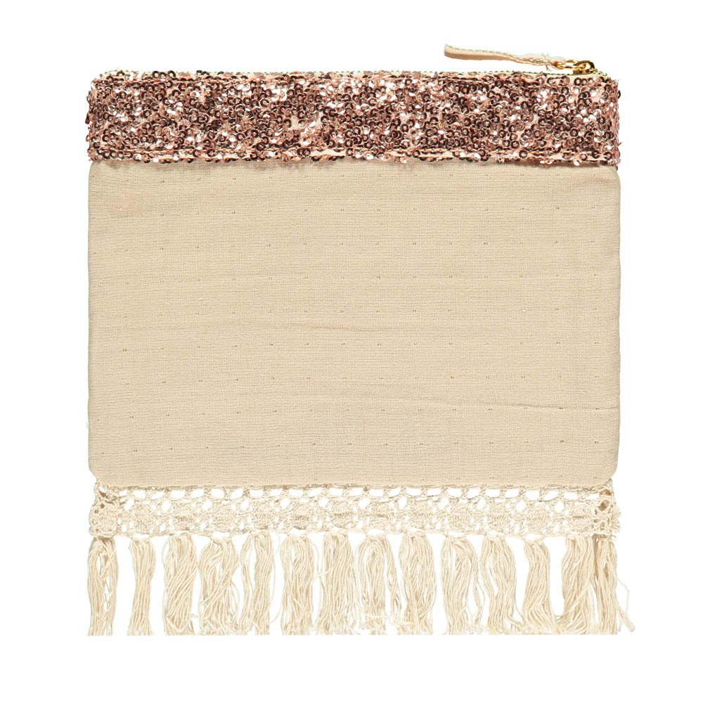 Olvera Sequin Linen and Cotton Pouch - Women's Collection-product