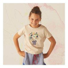 Bonnet à pompon T-shirt Personnage Fleurs-listing