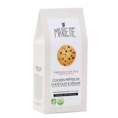 Marlette Préparation bio Cookie pépites chocolat et sésame-listing