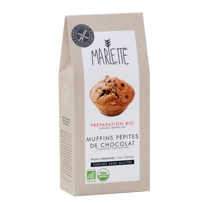 Marlette Preparación bio Muffin pepitas de chocolate sin gluten-listing