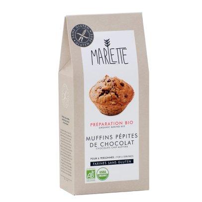 Marlette Préparation bio Muffin pépites chocolat sans gluten-listing