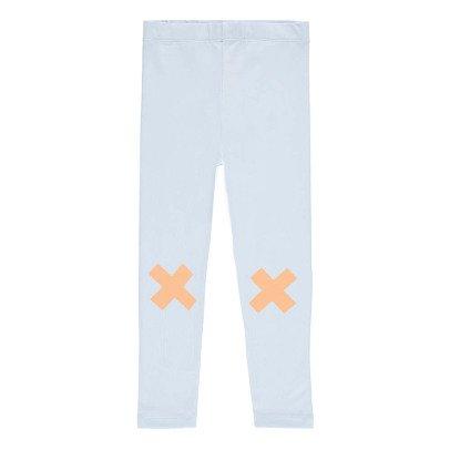 tinycottons Pantalon Sarouel Logo Croix Bleu pâle-listing