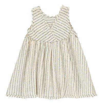 Boy + Girl Gestreiftes Kleid Blumenmuster Frankie -listing