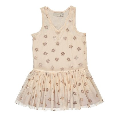 Stella McCartney Kids Bell Iridescent Floral Mesh Dress-listing