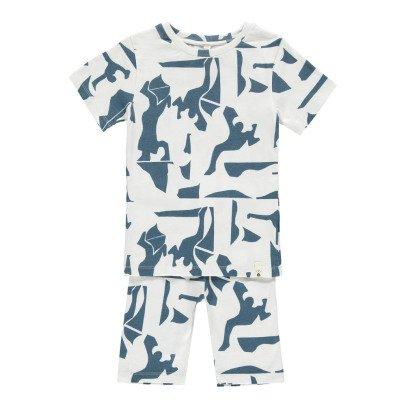 POPUPSHOP Pyjama Grafik aus Bio-Baumwolle -listing